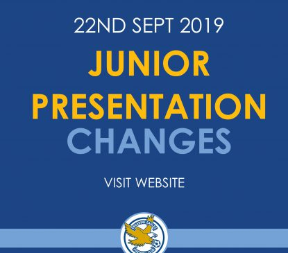 Junior Presentation changes