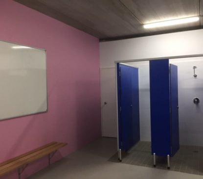 New change room completed