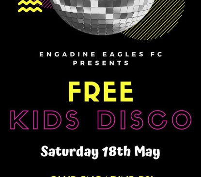 FREE KIDS DISCO THIS SATURDAY